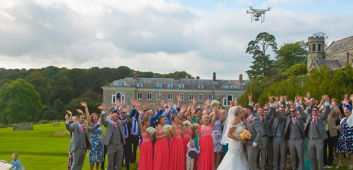 drone wedding video