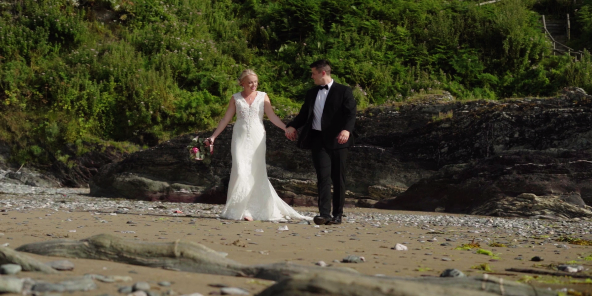 wedding video at polhawn fort